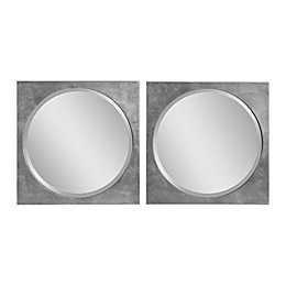 UTTERMOST Aletris 19.75-Inch x 19.75-Inch Square Modern Mirrors (Set of 2)