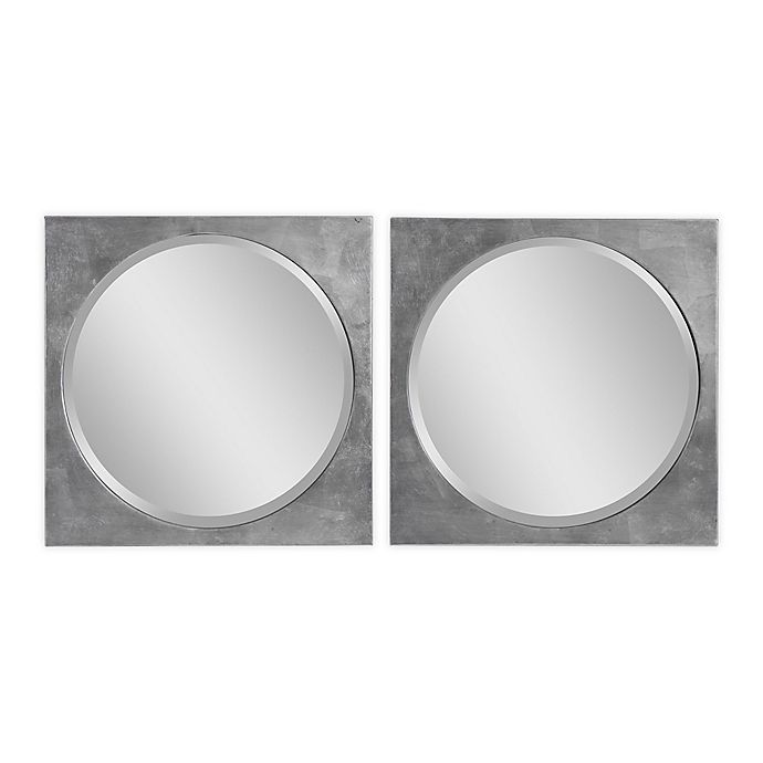 Alternate image 1 for UTTERMOST Aletris 19.75-Inch x 19.75-Inch Square Modern Mirrors (Set of 2)