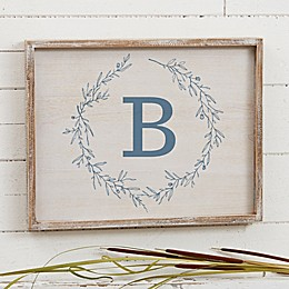 Bee & Willow™ Home Floral Initial Personalized Barnwood Art Collection