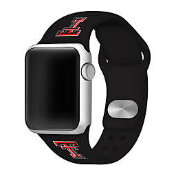 Texas Tech University Apple Watch® Short Silicone Band in Black