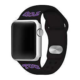 Texas Christian University Apple Watch® Short Silicone Band in Black