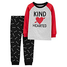 "carter's® 2-Piece ""Kind Hearted"" Long Sleeve Shirt and Jogger Set"