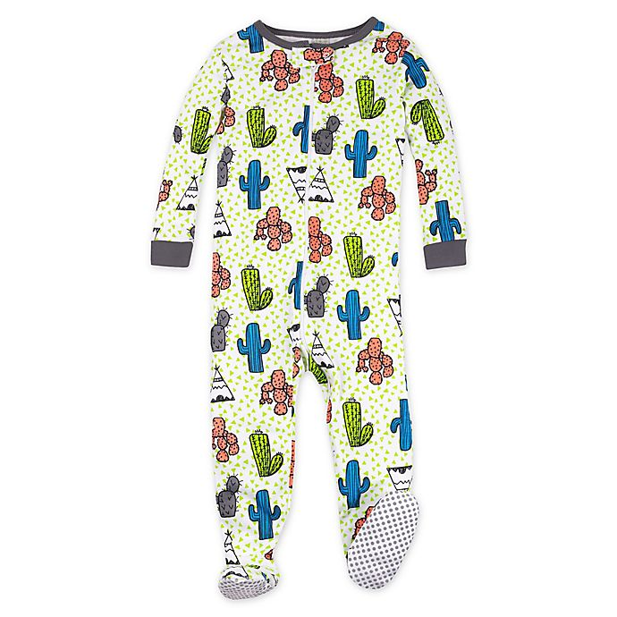 Alternate image 1 for Lamaze® Cactus and Teepee Organic Cotton Stretchie Footie in Green