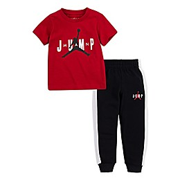 Jordan® Jump Man Shirt and Jogger Set in Red/Black