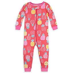 Lamaze® Pineapple Organic Cotton Footless Toddler Stretchie in Coral