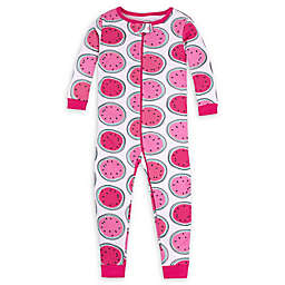 Lamaze® Watermelon Organic Cotton Footless Toddler Stretchie in Pink/White