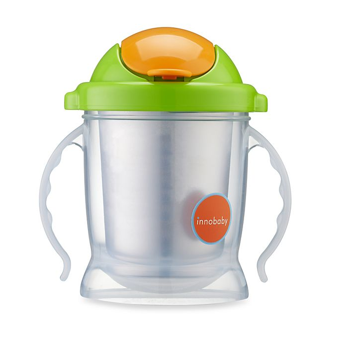 Alternate image 1 for Innobaby Sippin' Smart™ EZ Flow Stainless Sippy in Green