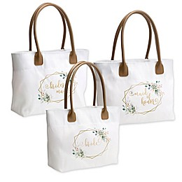 Lillian Rose™ Botanical Watercolor and Geometric Bridal Tote Bag Collection
