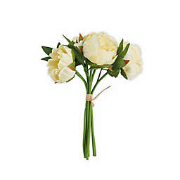 Elements 13-inch Faux Peony Bouquet in Light Yellow