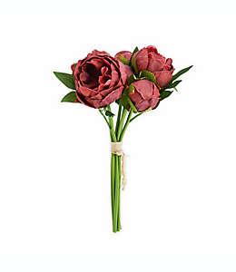 Ramo de peonías artificiales Elements de 33.02 cm en palo de rosa