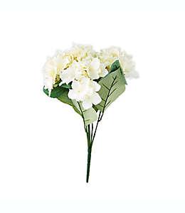 Ramo de hortensias artificiales Elements de 45.72 cm en marfil