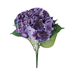 Elements 18-Inch Faux Hydrangea Bouquet in Plum