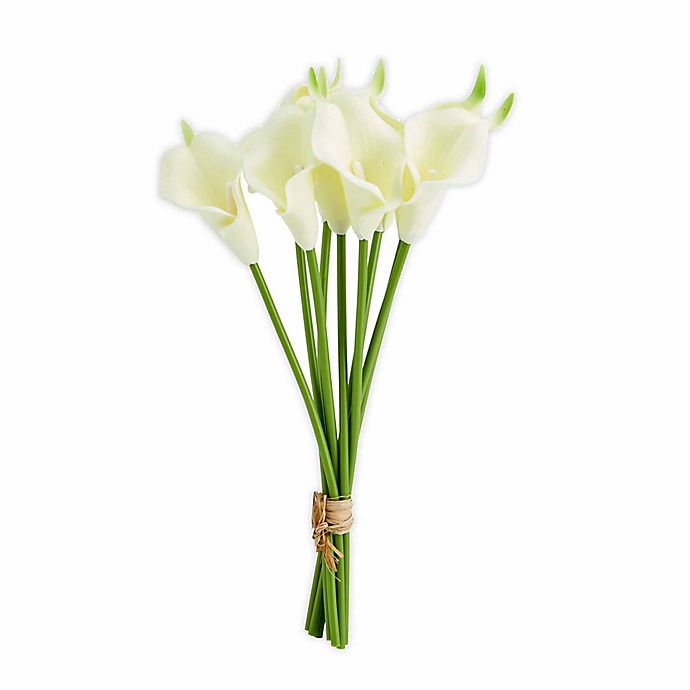Alternate image 1 for Elements 13-Inch Faux Calla Bouquet in Light Yellow