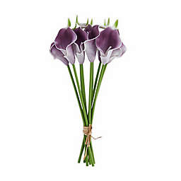 Elements 13-Inch Faux Calla Bouquet in Purple