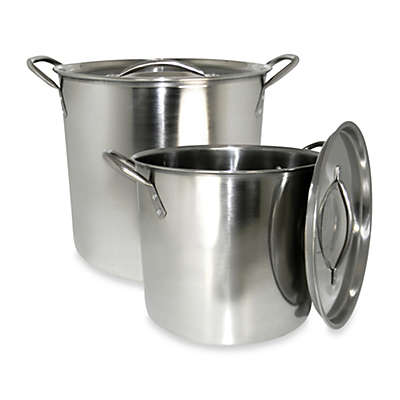 Cook Pro® 2-Piece Stock Pot Set in Stainless Steel