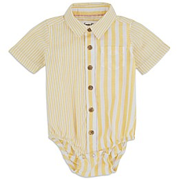 Sovereign Code™ Mixed Stripe Bodysuit in Canary Yellow