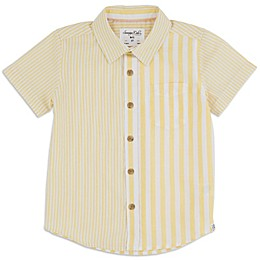 Sovereign Code™ Canary Stripe Toddler Button-Front Shirt in Yellow