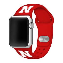 University of Nebraska Apple Watch® Short Silicone Band in Red