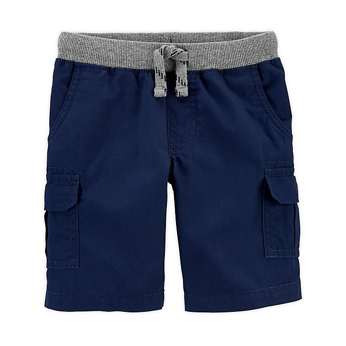 Alternate image 1 for carter's® Size 12M Cargo Shorts in Navy