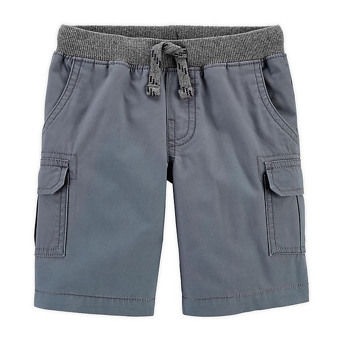 Alternate image 1 for carter's® Size 3M Cargo Shorts in Grey