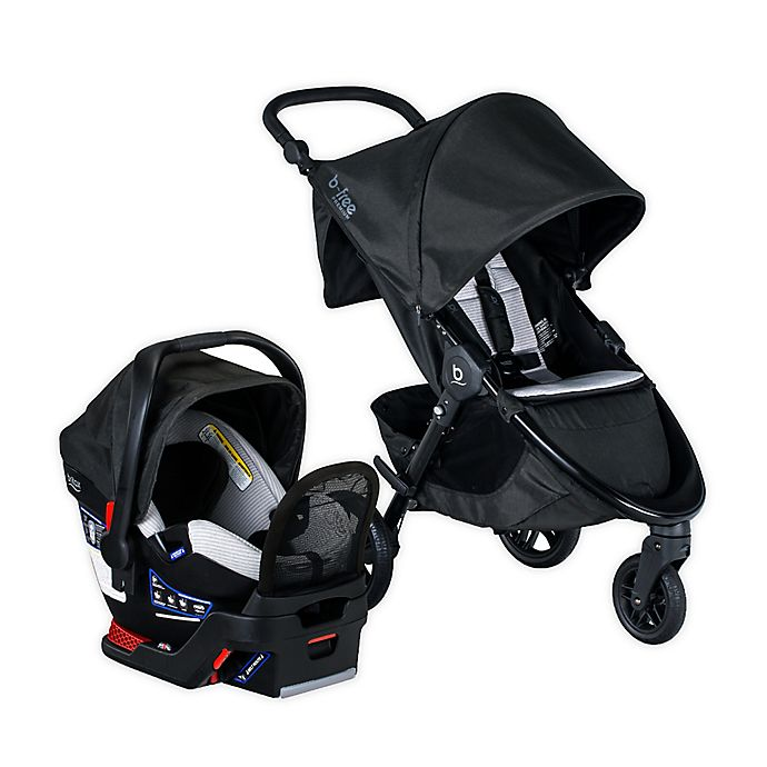 Alternate image 1 for Britax® B-Free Premium Clean Comfort Travel System with Endeavours® Infant Car Seat
