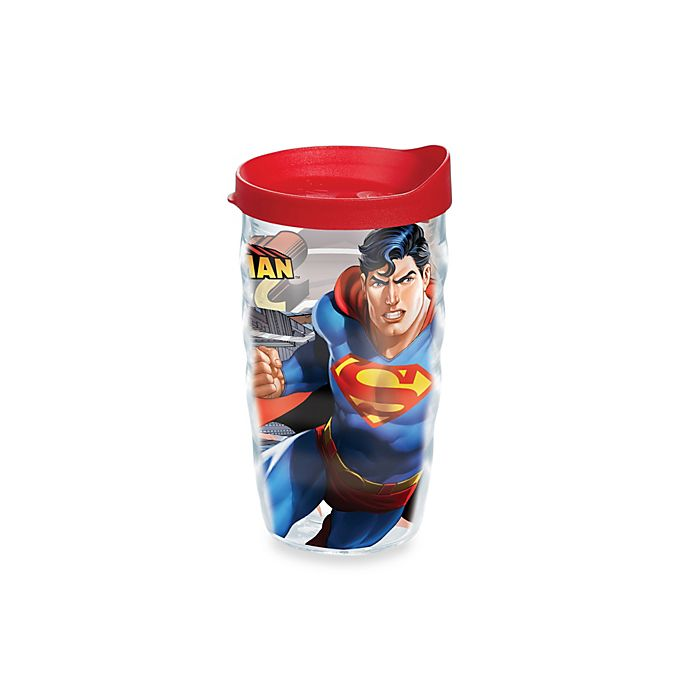 Alternate image 1 for Tervis® Warner Brothers® Superman 10-Ounce Wavy Wrap Tumbler with Lid