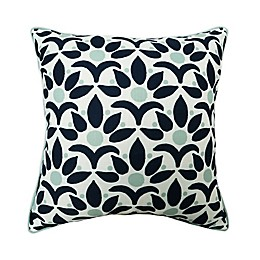 One Kings Lane Open House™ Jaipur Indoor/Outdoor Square Throw Pillow in Navy