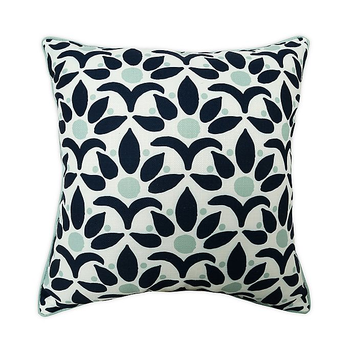 Alternate image 1 for One Kings Lane Open House™ Jaipur Indoor/Outdoor Square Throw Pillow in Navy