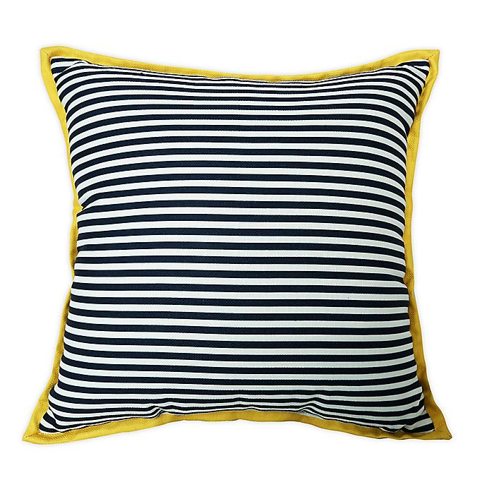 One Kings Lane Open House Finelines Indoor Outdoor Square Throw Pillow In Navy Bed Bath Beyond