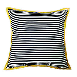 One Kings Lane Open House™ Finelines Indoor/Outdoor Square Throw Pillow in Navy