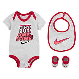 "Nike® ""Tiny But Awesome"" Bodysuit and Accessory Set in Grey/Red"