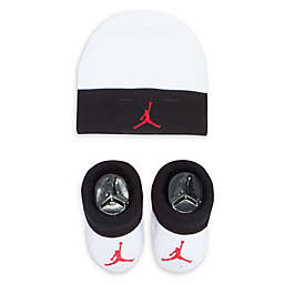 Nike® Jordan® 2-Piece Hat and Bootie Set in White/Black