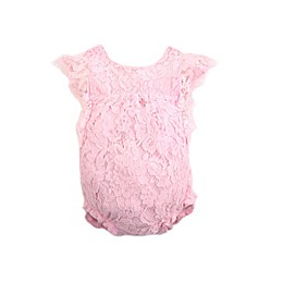 Kidding Around Floral Lace Romper in Pink