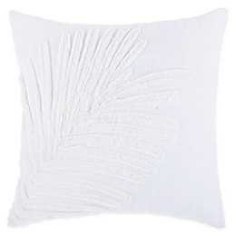 Bee & Willow™ Home Shadow Fern Square Throw Pillow in White