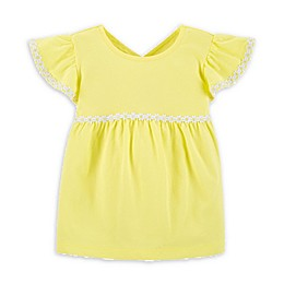 carter's® Embroidered Short Sleeve Top with X Back in Yellow