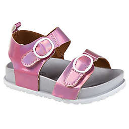 Stepping Stones Mirrored Footbed Sandal in Pink