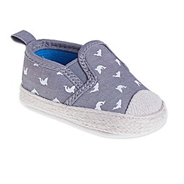 Stepping Stones Whale Casual Slip-On Shoes in Grey