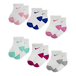 Nike® 6-Pack Pop Color Socks in White