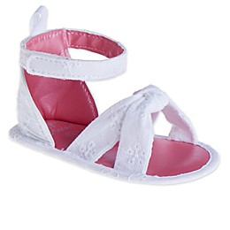 Stepping Stones Eyelet Bow Sandal in White