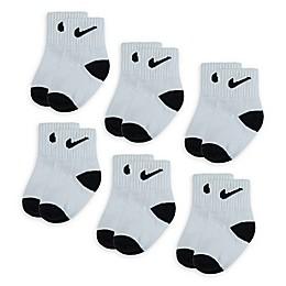 Nike® 6-Pack Swoosh Logo Socks in White/Black