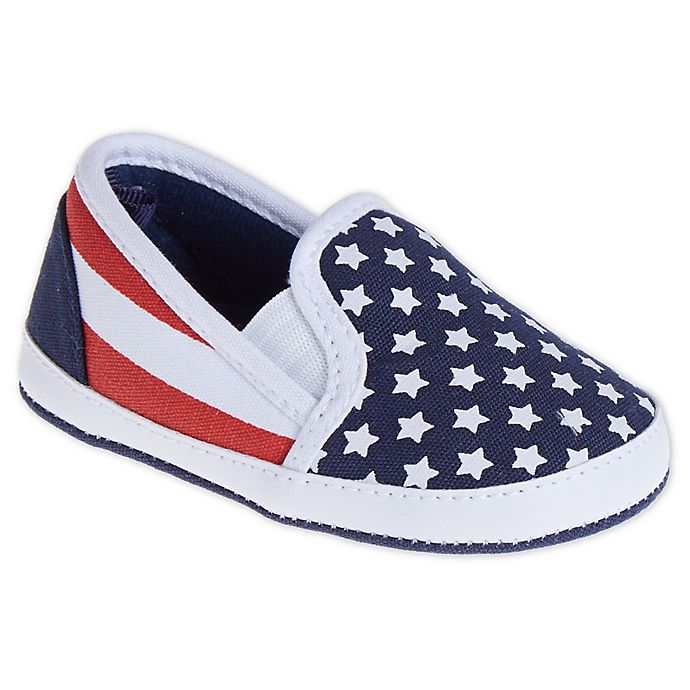 Alternate image 1 for Stepping Stones Stars and Stripes Casual Slip-On Sneaker