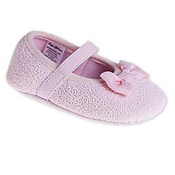 Stepping Stones Size 0-3M Glitter Dot Shoe in Pink