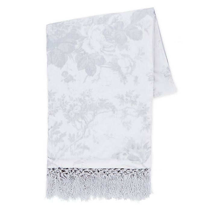 Alternate image 1 for Wamsutta® Vintage Abigall Lace Throw Blanket in Grey