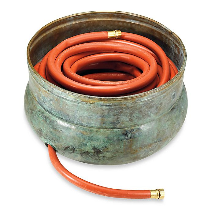 Alternate image 1 for Good Directions Sonoma Brass Hose Pot in Blue Verde Finish