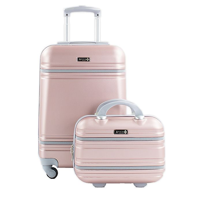 Alternate image 1 for American Sport Plus Varsity 2-Piece Carry On Luggage Set