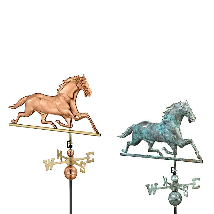 Alternate image 1 for Good Directions Horse Weathervane in Polished Copper Finish