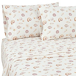 Coastal Life Shells 144-Thread-Count Pillowcases (Set of 2)