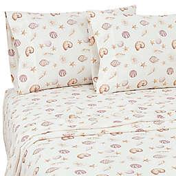 Coastal Life Tropical Shells Cotton 144-Thread-Count Pillowcases (Set of 2)