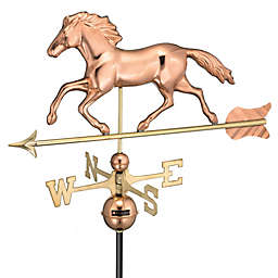 Good Directions Smithsonian Running Horse Weathervane in Polished Copper Finish