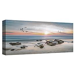 Masterpiece Art Gallery Sunset Flight Canvas Wall Art